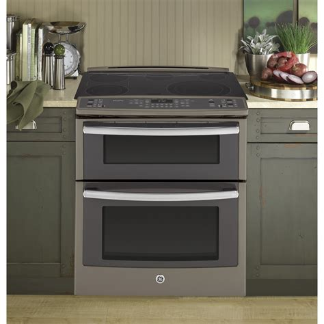 psefes ge profile series    front control double oven electric convection range