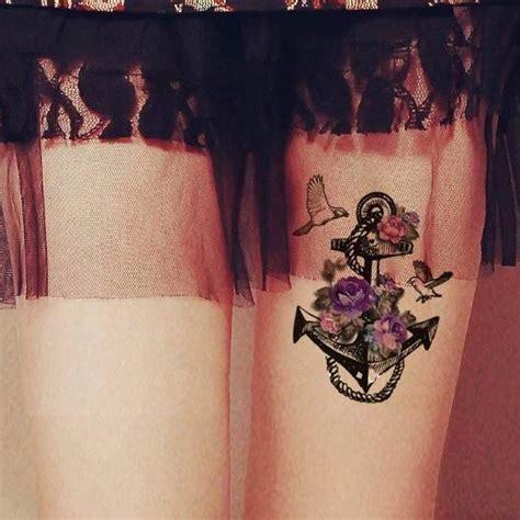 tatouage ancre marine tatouage temporaire ancre marine et violette tempo