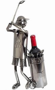 Porte Bouteille De Vin : porte bouteille de vin golfeur sculpture m tal id e cadeau ~ Dailycaller-alerts.com Idées de Décoration