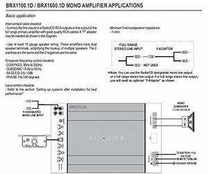 Poor Manuals Leave Me Wondering How To Hook Up Sub Amp
