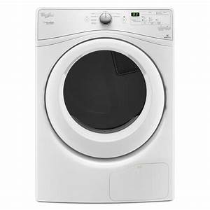 Whirlpool Duet 7 4 Cu  Ft  Ventless Electric Dryer With Heat Pump Technology In White  Energy