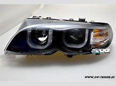 Angel Eye headlights BMW E46 0105 LCI sedan 2 Ushaped