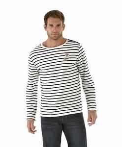 T Shirt Mariniere Homme : marini re homme ray naturel t shirt mode homme terre de ~ Melissatoandfro.com Idées de Décoration