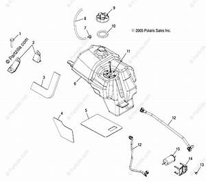 Polaris Atv 2006 Oem Parts Diagram For Fuel System   At  Ax