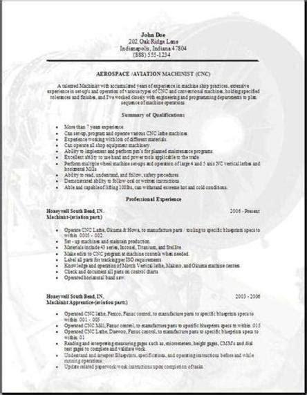 resume exles templates free sle aviation resume
