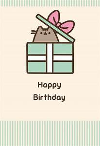 Pusheen 'Happy Birthday' card from Gemma International ...