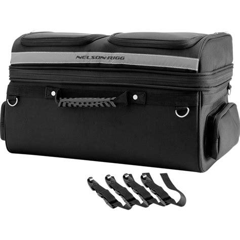 motorcycle luggage rack nelson rigg semi rigid luggage rack bag motorcycle luggage