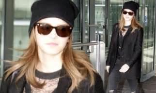 Emma Watson Rocks All Black Ensemble She Heads Back
