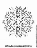 Coloring Snow Printable Flake Library sketch template