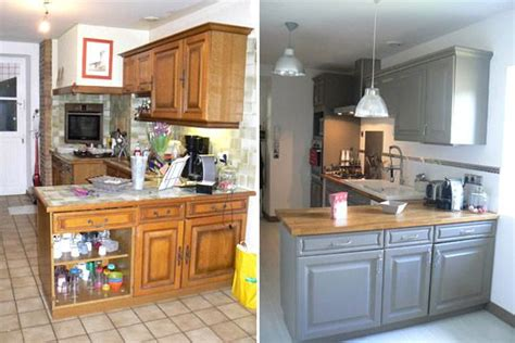 cuisiner une vieille travaux cuisine rénovée relooking cuisine et la