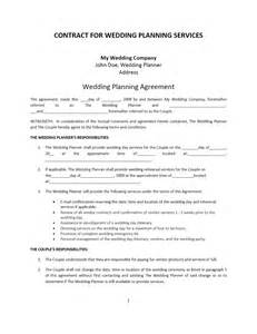 wedding planner contract template freewordtemplates net