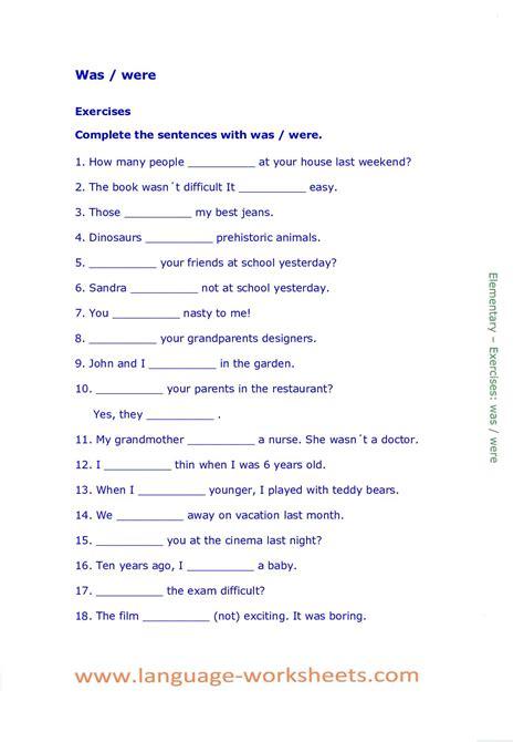 calameo waswere worksheet