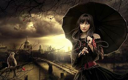 Gothic Dark Fantasy Witch 3d Wallpapers Abstract