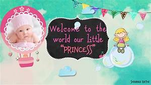 Invitation Images Welcome Baby Girl Version After Effects Template Youtube