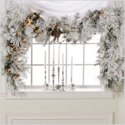 garlands white and windows on