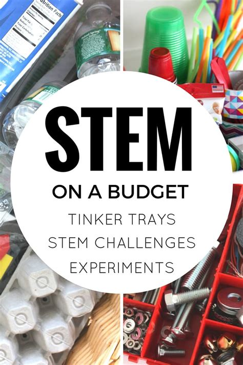 recycled stem activities  stem challenges  kids