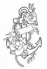 Tattoo Tattoos Drawings Sketches Anchor Outline Drawing Bird Addition Arm sketch template