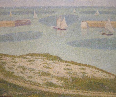 file georges seurat port en bessin entrance to the harbor jpg wikimedia commons