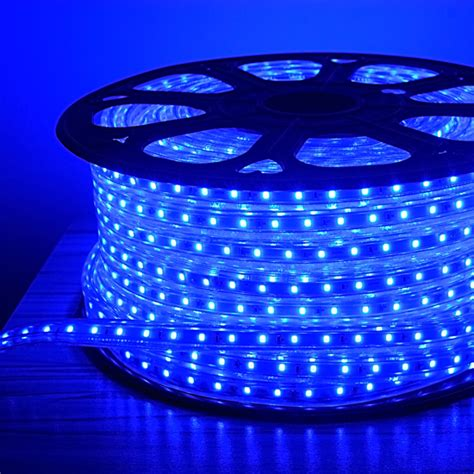 blue led rope light outdoor event lighting deck