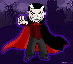 How to Draw a Cartoon Vampire, Step by Step, Vampires ...
