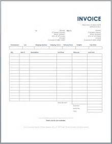 Transport Bill Sle by Freight Invoice Template Ms Word Free Invoice Templates
