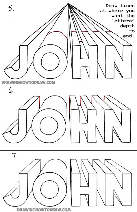 how to draw letters in 3d how to draw 3d letters in one point perspective 50276