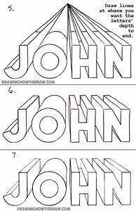 How to Draw 3D Letters in One Point Perspective ...