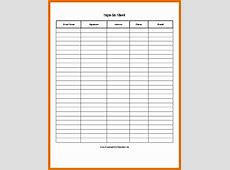 7+ sign in sheet templateReference Letters Words