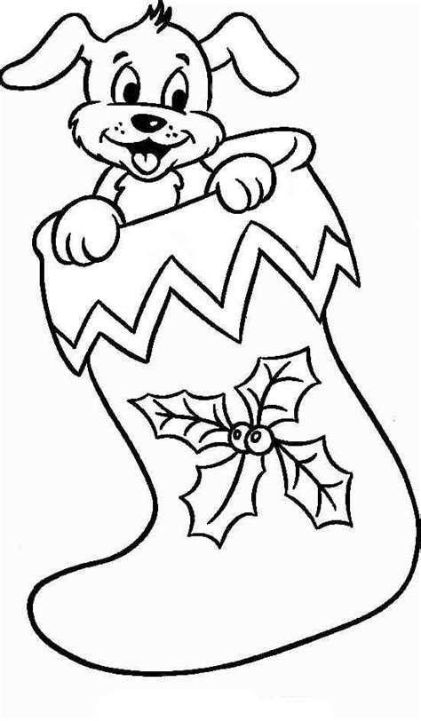 stocking coloring pages   print