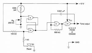 Self Latching Light Alarm With Tone Output