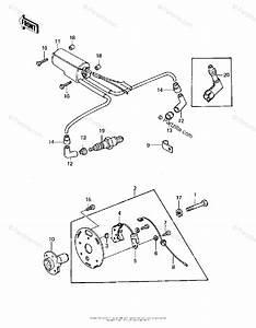 Kawasaki Motorcycle 1981 Oem Parts Diagram For Ignition   U0026 39 80 A1
