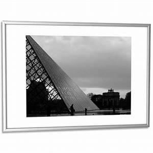 Cadre Plexiglas Grand Format : cadre photo contour aluminium coloris argent plaque en plexiglas format 30 x 42 cm ~ Teatrodelosmanantiales.com Idées de Décoration