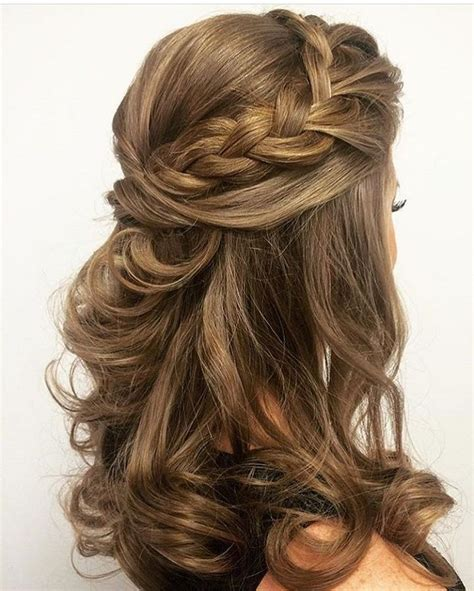 30 half up half down wedding hairstyles ideas easy misc
