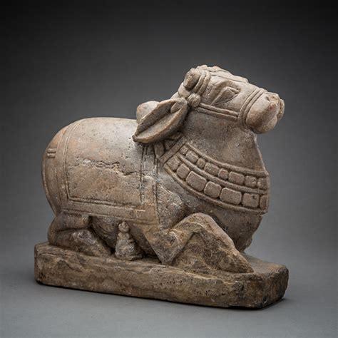 Indian Sculpture of the Bull Nandi - Barakat Gallery Store