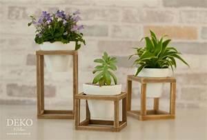 Blumenständer Aus Holz : diy coole blumenst nder aus holzleisten deko kitchen ~ Whattoseeinmadrid.com Haus und Dekorationen
