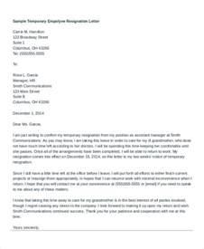 Employee Resignation Letter Template