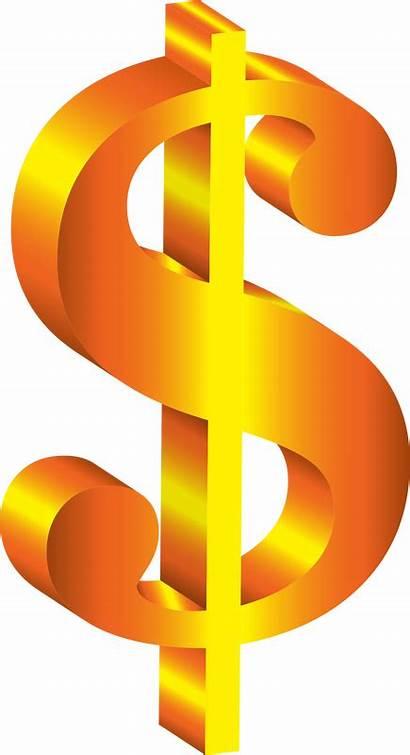 Dollar Sign Money Clipart Vector Golden 3d