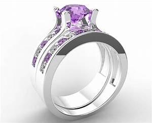 amethyst bridal ring set vidar jewelry unique custom With amethyst wedding ring set