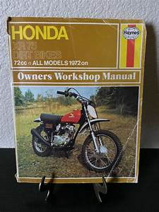 Vtg Original 1970 U2019s Honda Xr 75 Dirt Bike Owners Manual