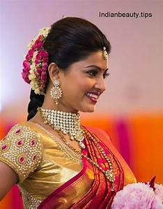 Actress Sneha's Hairstyles with Ethnic Wear Indian Beauty Tips