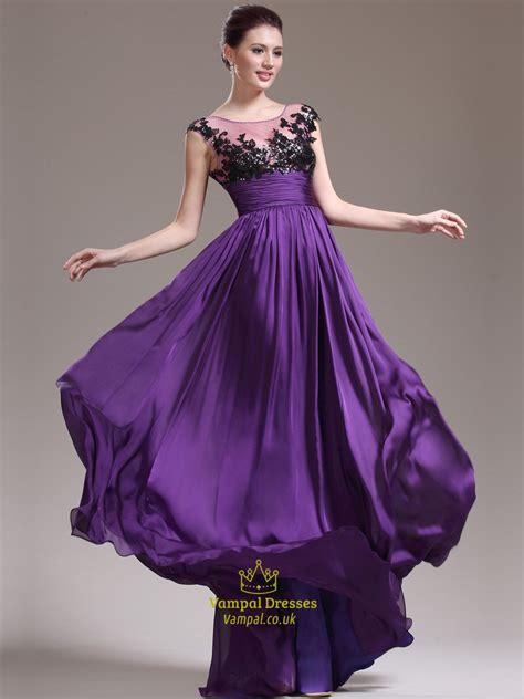 purple jewel sleeveless beading applique chiffon