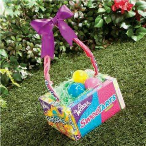 easter baskets ideas easter basket made with candy holiday ideas pinterest