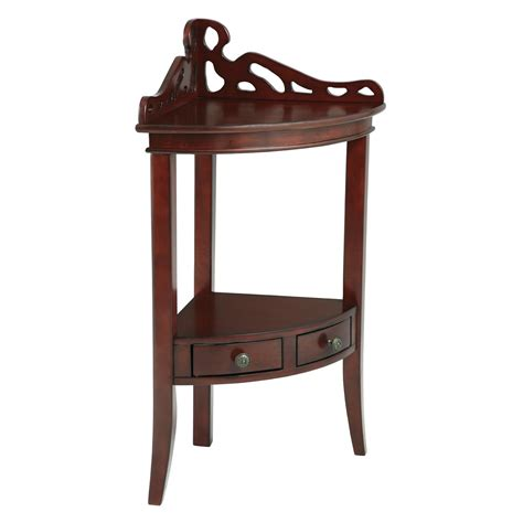 corner accent table powell bombay collection gallery corner accent table end
