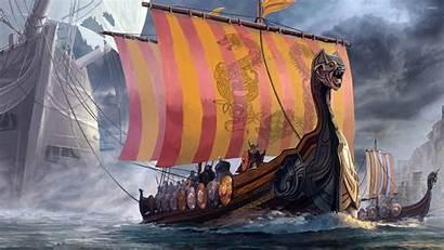 Vikings Wallpapers Viking Ship Asgard Digital Background