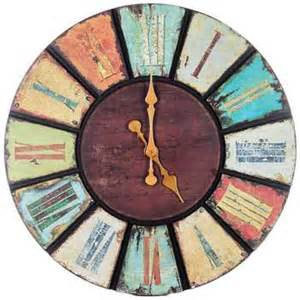 multi color round wooden wall clock hobby lobby 700187