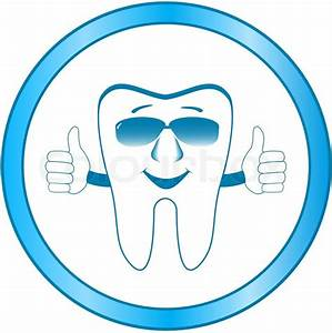 Dental Clinic Symbol With Cartoon Smile Tooth Showing