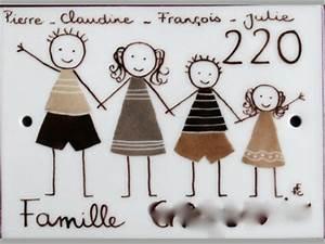 Plaque Numero Maison Personnalisé : plaque maison personnage ton marron ~ Melissatoandfro.com Idées de Décoration