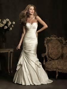 wedding dresses ivory stunning mermaid sweetheart ivory satin ruched wedding dress corset back