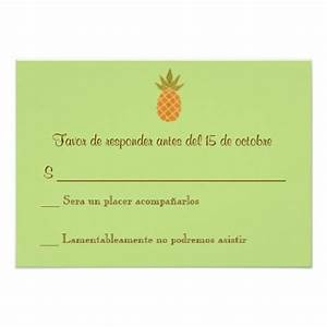 rsvp cards in spanish bilingual pineapple wedding rsvp 2 With 2 sided photo wedding invitations