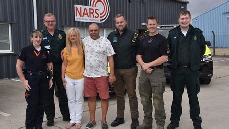 Reepham painter meets NARS heroes who saved him after ...